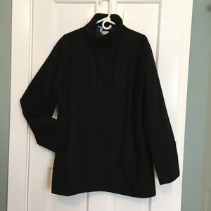 J. Crew Factory Black Wool Coat